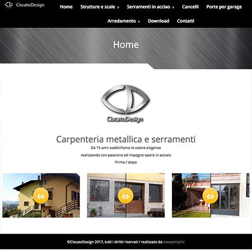 Realizzazione sito ciscato design web designer padova for Design sito